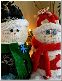 Sock Snowman &amp; Santa