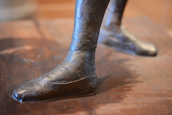 Little Dancer of Fourteen Years by Degas, detail (feet)