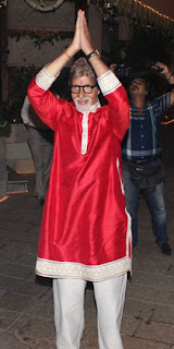 Amitabh Bachchan welcome the celbs for diwali festival