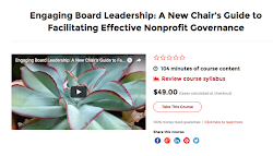 NEW! Nonprofit board chairs course. Click image for course info