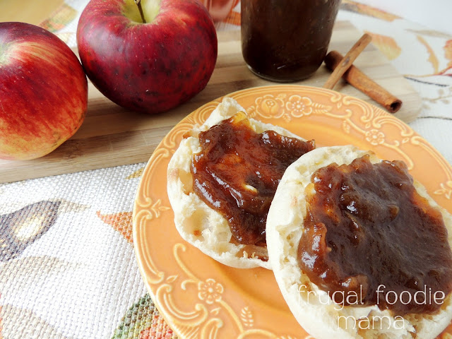 Homemade Crock Pot Apple Butter via thefrugalfoodiemama.com - this fall favorite simmers all day in your slow cooker!