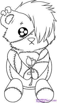 Emo Bear Coloring Pages