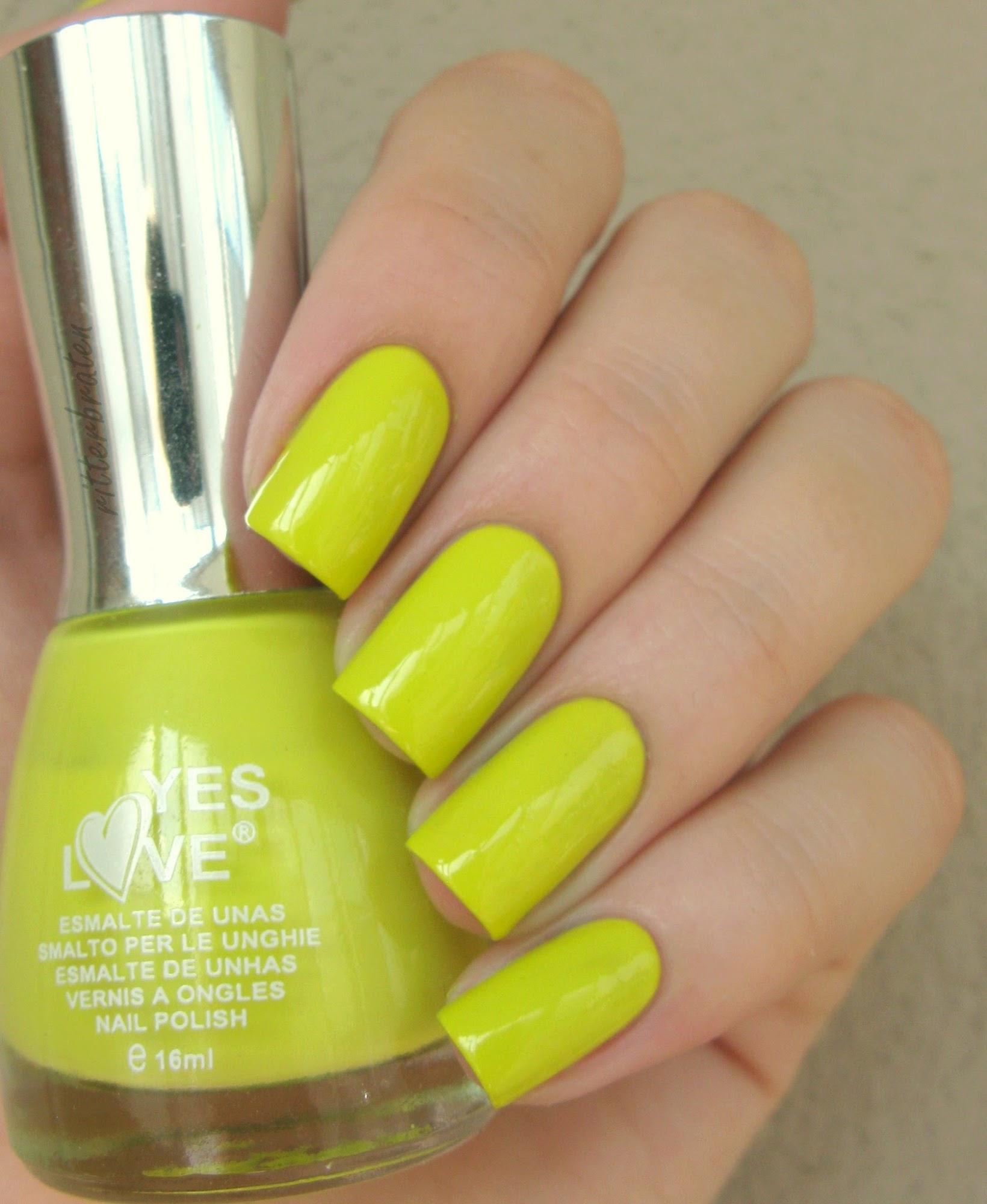 lime nail art
