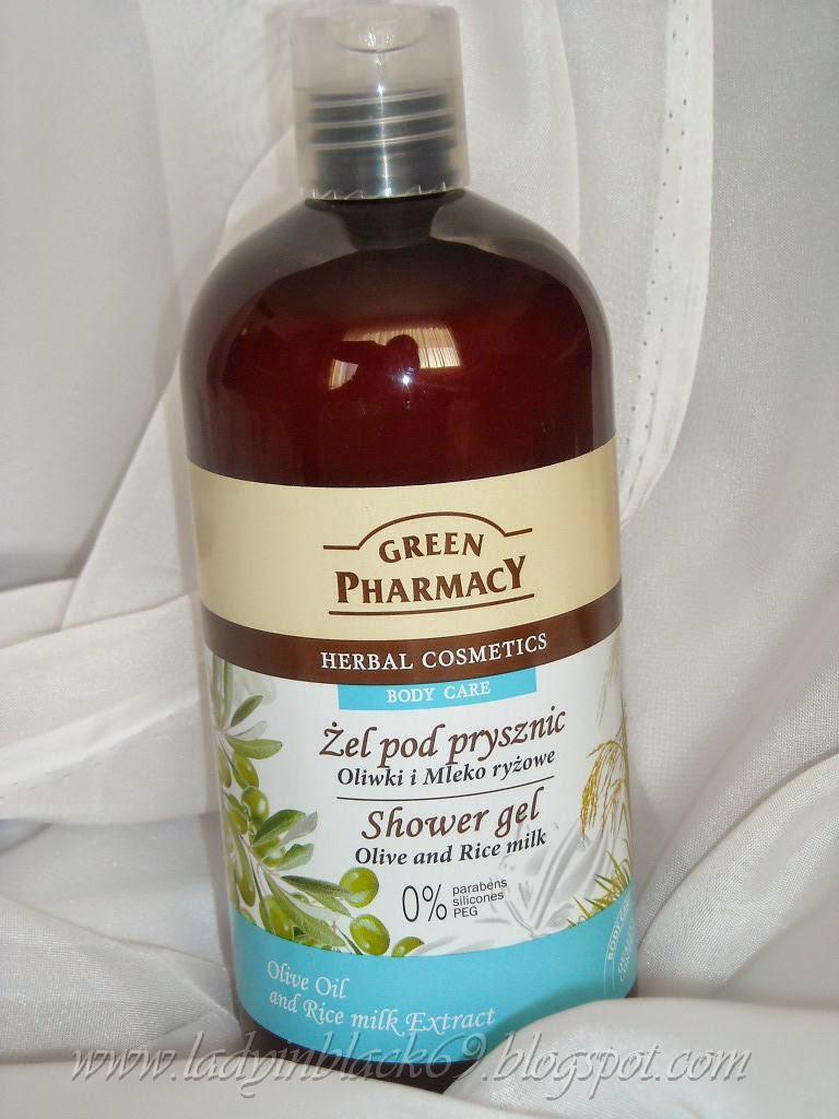 Lady In Black Green Pharmacy żel Pod Prysznic Oliwki I Mleko Ryżowe