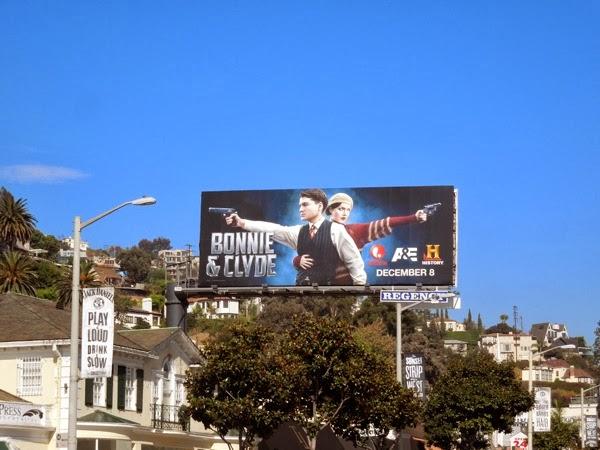 Bonnie Clyde 2013 TV remake billboard