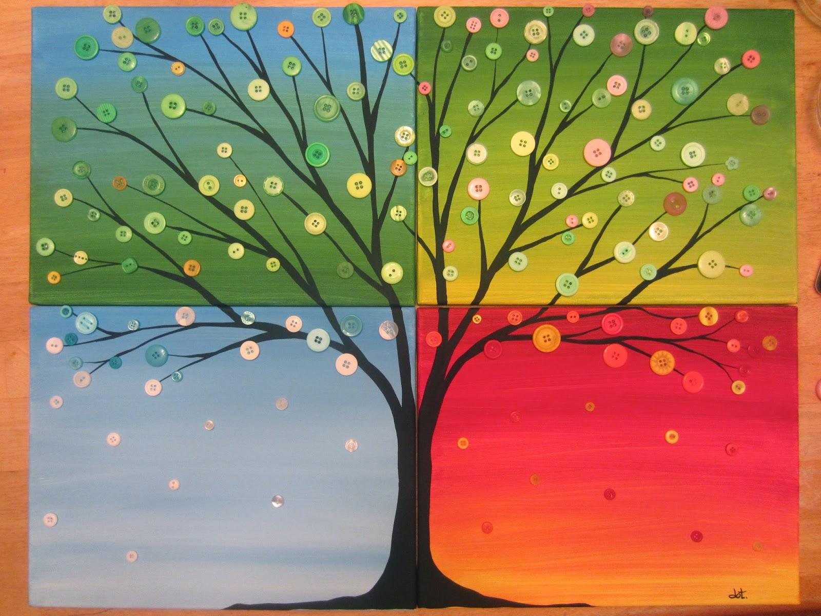 art four seasons tree 365 days of happiness group art