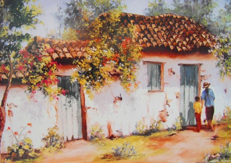 Im genes arte pinturas paisajes de campo al leo for Pinturas para casas de campo