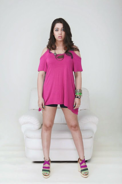 Charmy kaur in pink top in tight hot black mini shorts unseen redhot pics free download