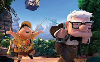 Russell and Carl Fredricksen Up Movie HD Wallpaper