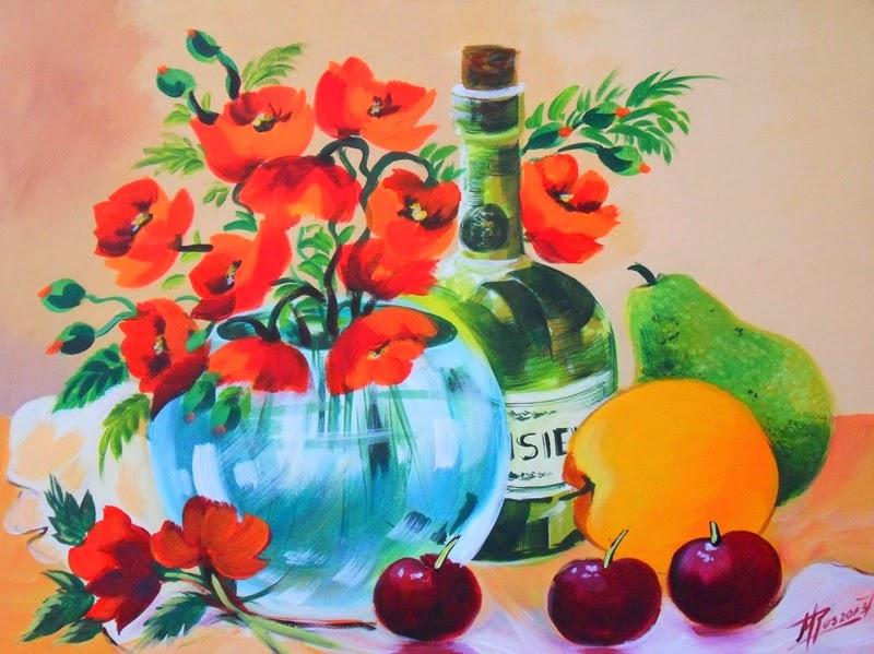 Cuadros modernos pinturas y dibujos cuadros pintados en for Cuadros al oleo modernos para comedor