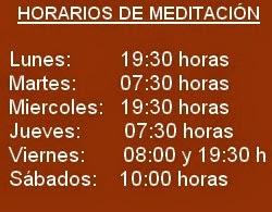 horarios de meditación