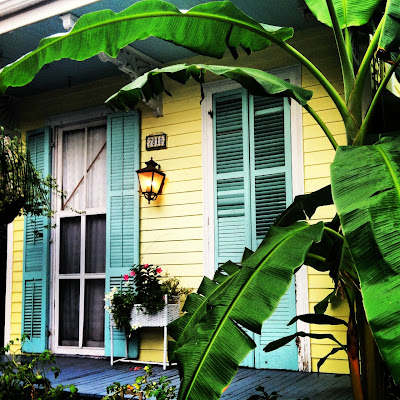 NOLA Tropical Shotgun House Yellow And Turquoise