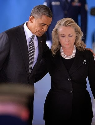 Hillary Clinton with Obama