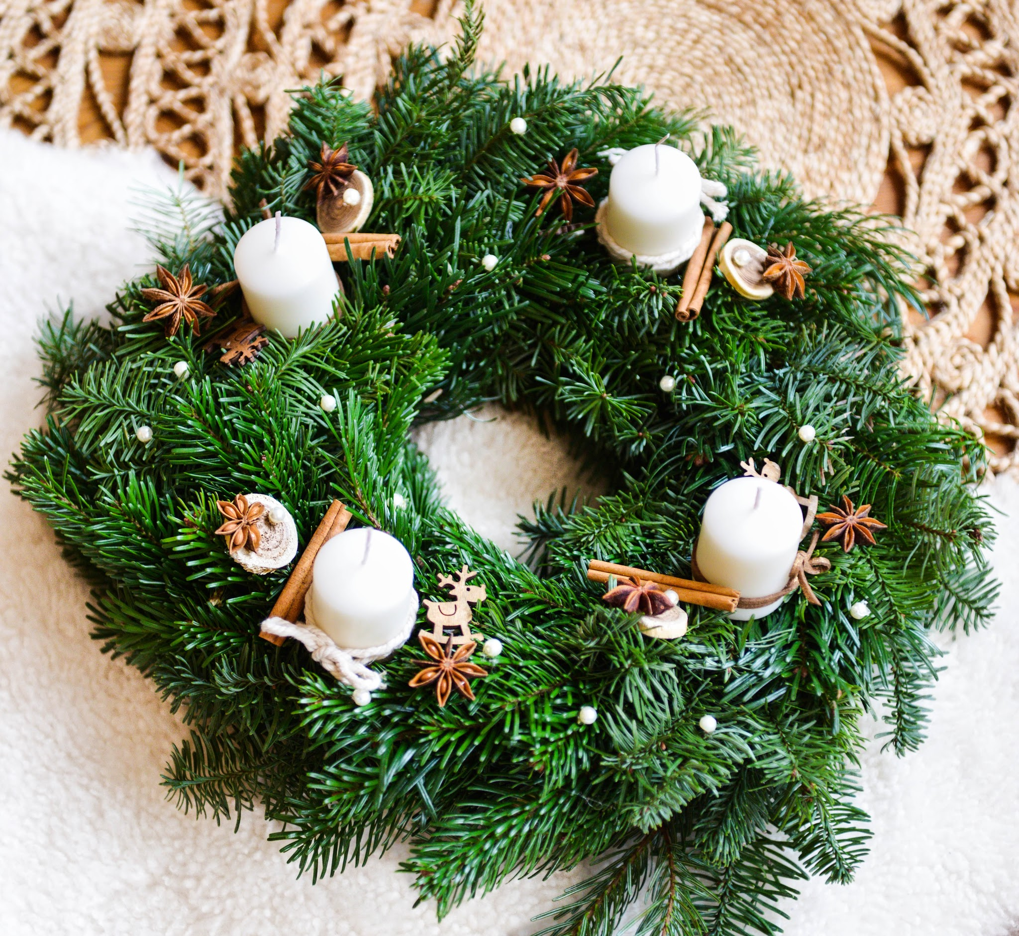 DIY christmas advent wreath