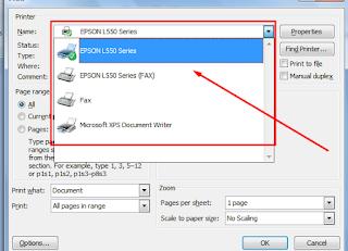 Cara print atau cetak dokumen dari microsoft Word