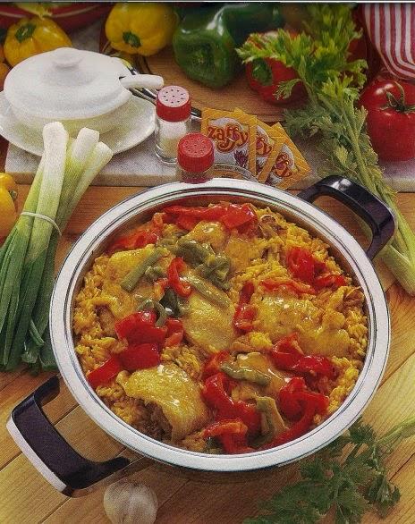 Paella con pollo e peperoni | Paella with chicken and peppers