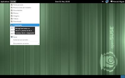 GNOME 3 sem o GNOME Shell (modo de reserva/fallback mode)
