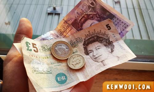pound cash
