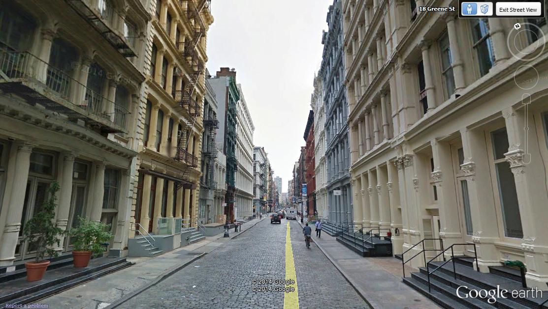 Greene Street In Soho New York City Explore On Google Street View