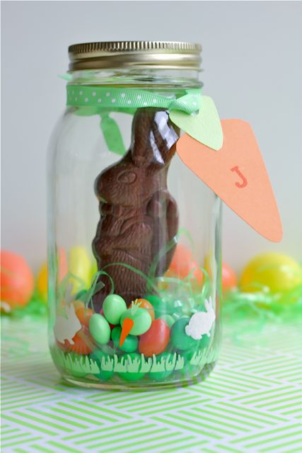 Your Southern Peach Easter Candy Terrarium