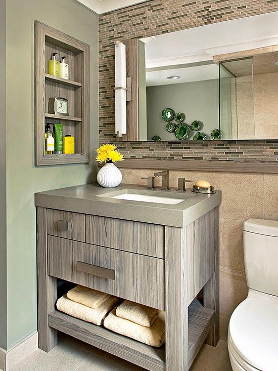 10 Banheiros lindos  Decoração e Invenção -> Banheiro Pequeno Mas Lindo