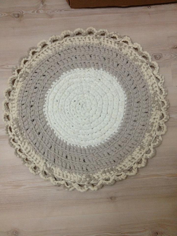 Mis manualidades alfombras de trapillo - Alfombras redondas ...