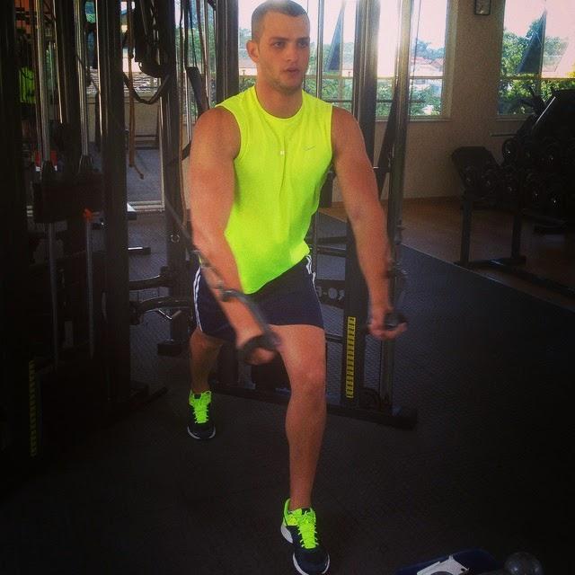 """""""Quero chegar aos 120 kg"""", disse Ailton Foto: Arquivo pessoal"""