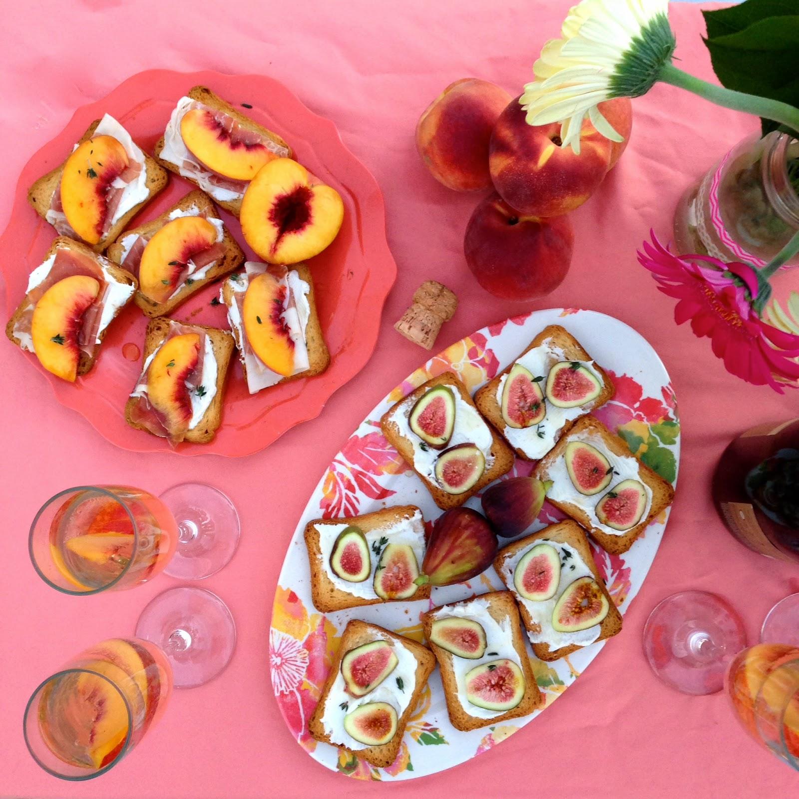 labor day picnic, smirnoff vodka, peach crostini, brunch idea