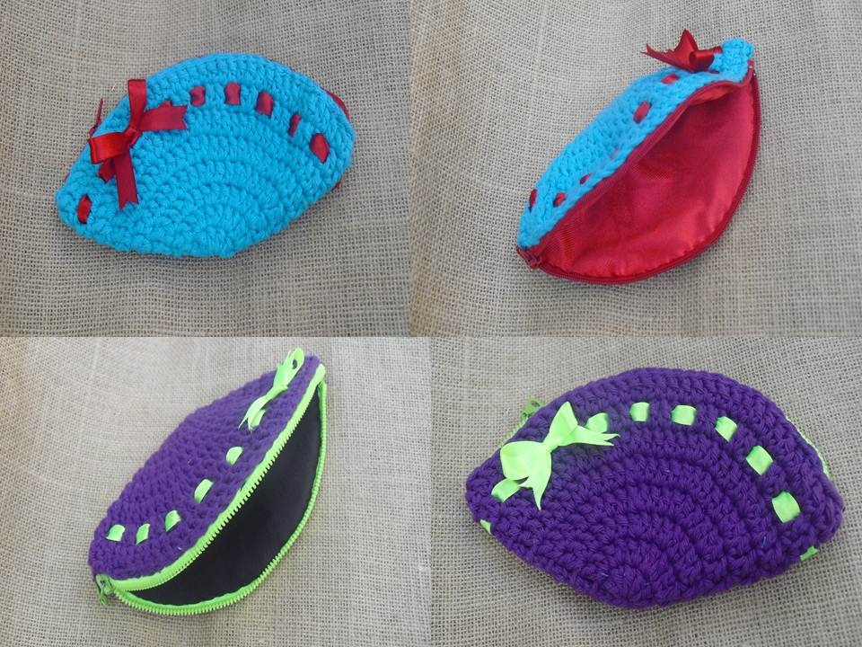 MONEDEROS DE CROCHET