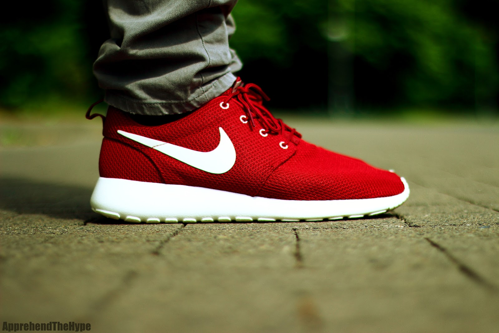 apprehend the hype nike roshe run team red sail