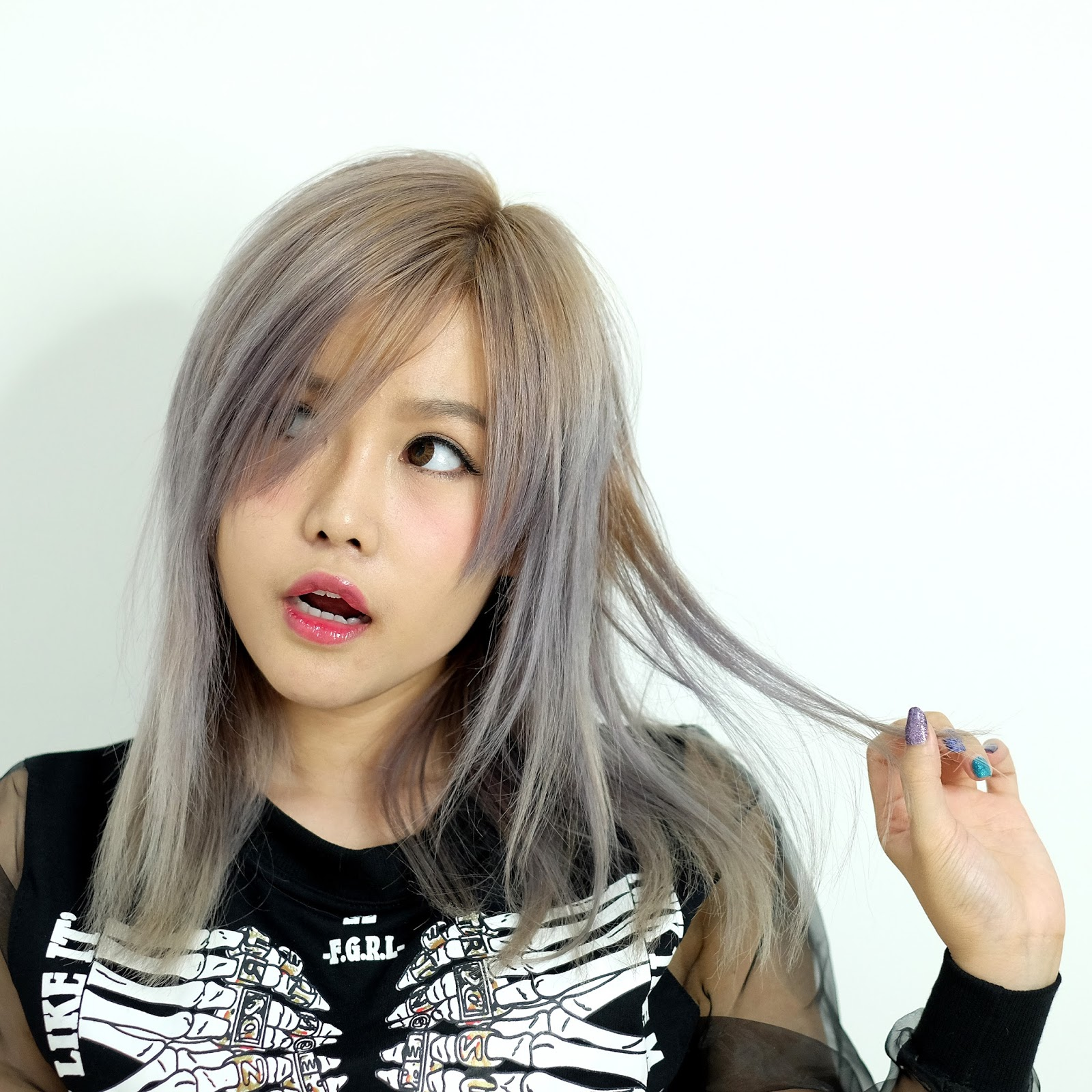 How I Usually Dye My Hair  Asian Ash Blonde Hair  Stella Lee  Indonesia Be