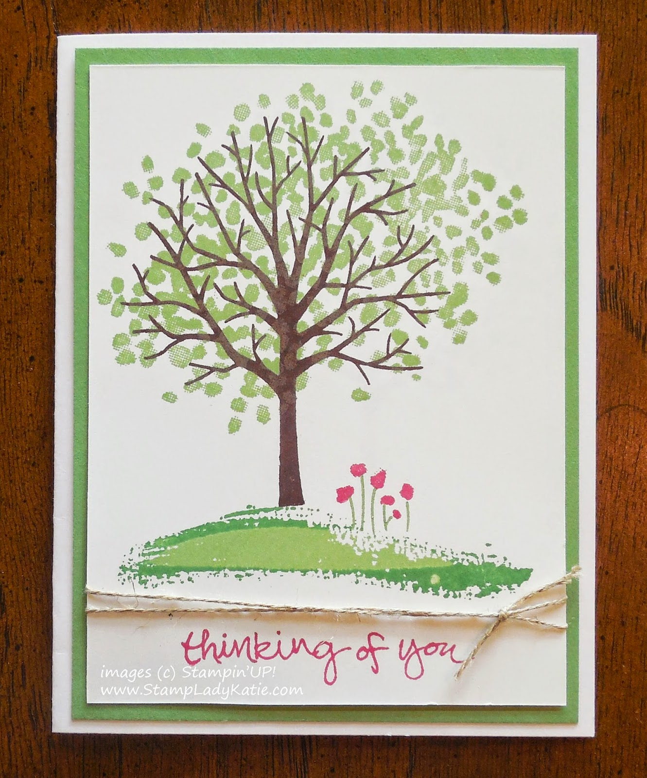 Card made with Stampin'UP!'s Sheltering Tree Stamp set