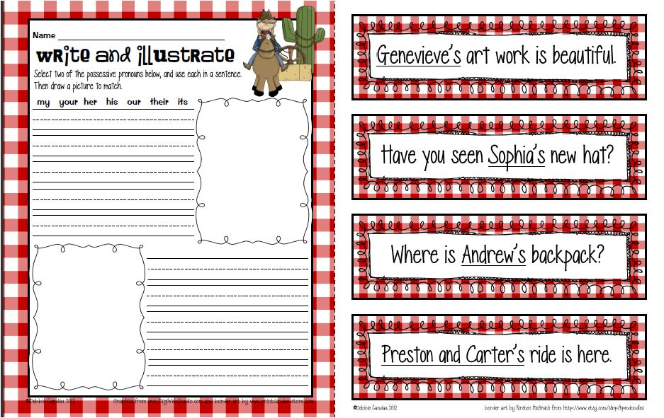 Sailing Through 1st Grade Possessive Pronouns – First Grade Adjective Worksheets