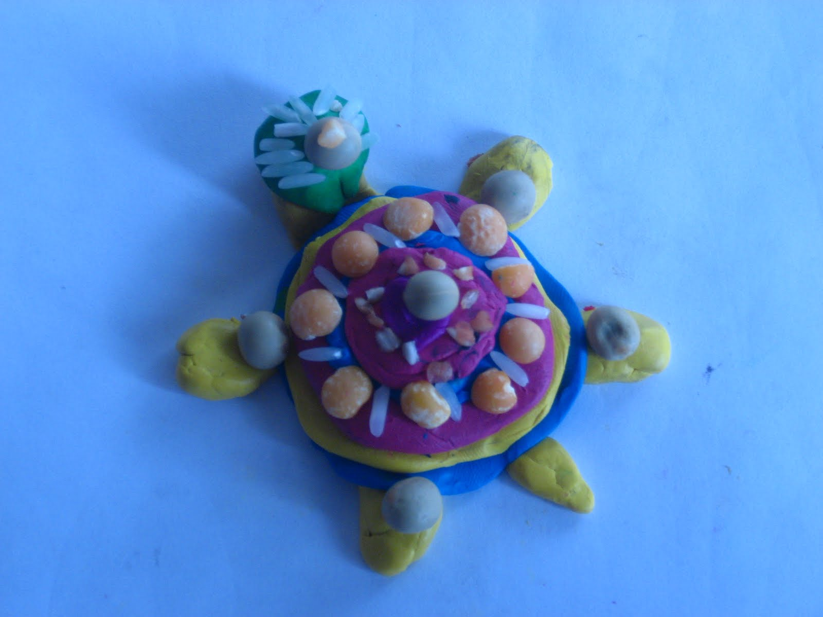 Черепаха из пластилина своими руками