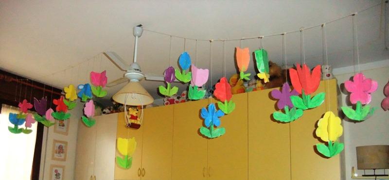 Studiamando liberamente decorazioni di primavera fiori for Decorazioni da appendere al soffitto