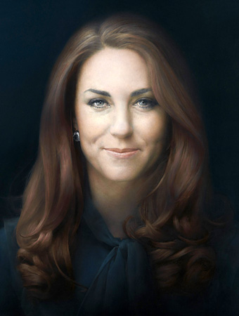 Potret Kate Middleton yang dilukis oleh Paul Emsley.