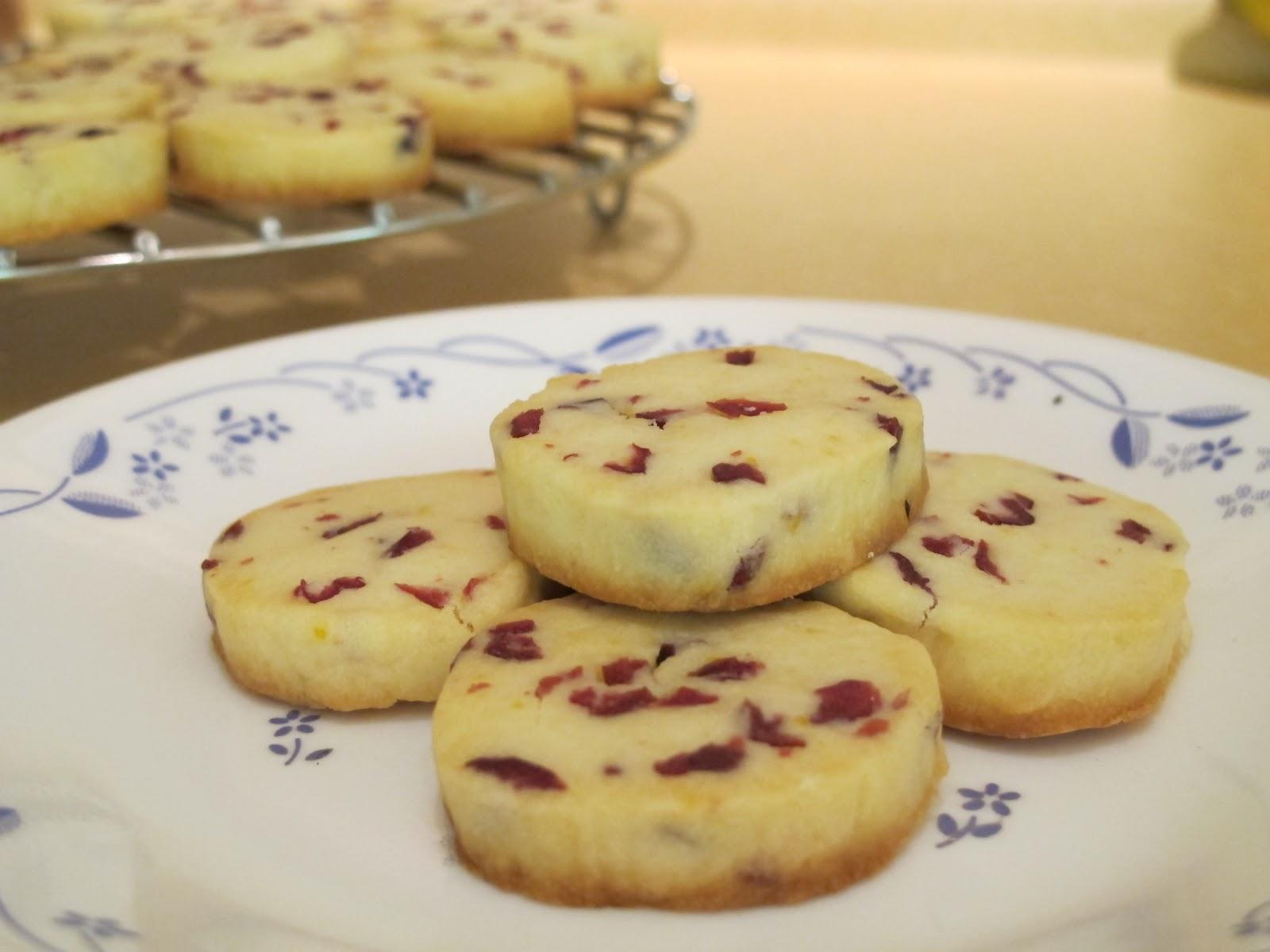 Orange Cranberry Shortbread Cookies | Siulin's Kitchen