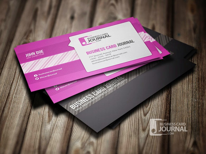 Online web design blog 10 best free business cards psd design of 2015 1 creative speech bubble wajeb Images