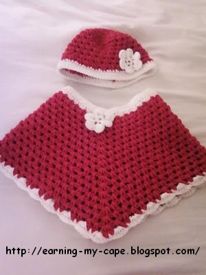 CHILD'S RED RIDING HOOD PONCHO PATTERN CROCHET | Crochet Patterns
