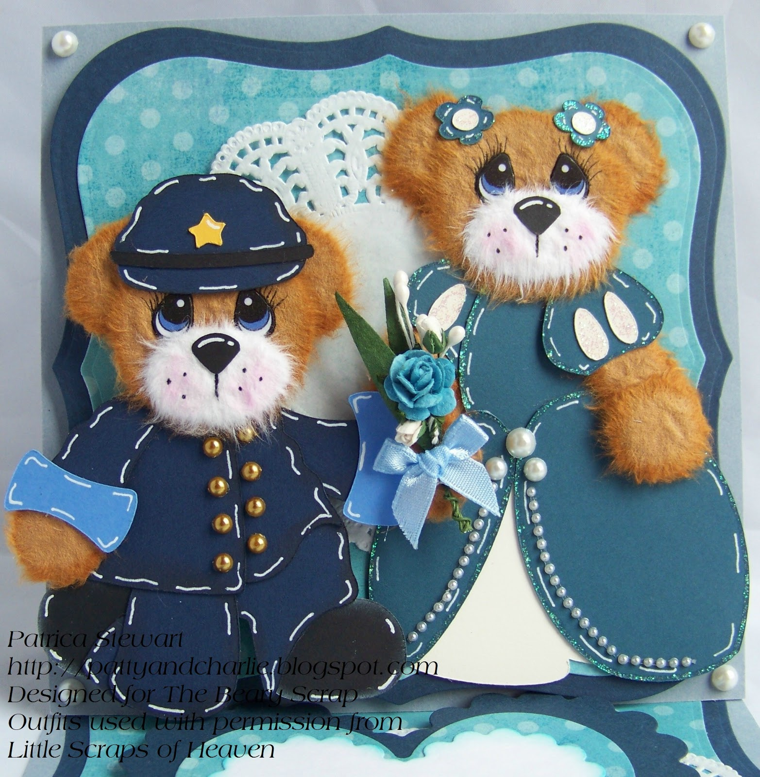 The beary scrap design team and challenge blog winter The color blue makes you feel