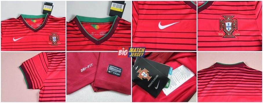 Detail Jersey Baru Portugal Home Ladies  Piala Dunia 2014 Dari Nike Kaos Couple Setelan