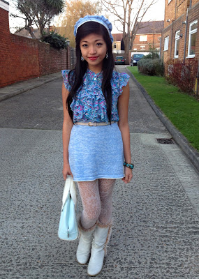 DIY Knitted Skirt, Hat and Mittens