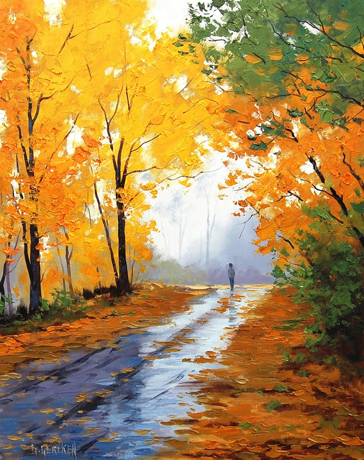 Graham gercken 1960 impressionist landscape painter for Fall pictures to paint