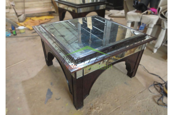 Hanging Dining Table With Antique Glass