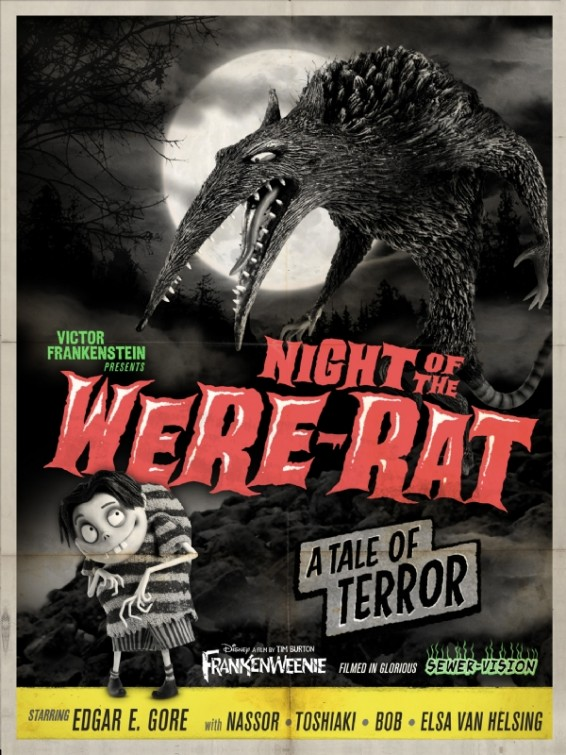 Frankenweenie WereRat movie poster