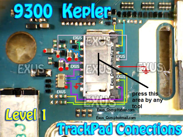 Blackberry 9300 trackpad Ways - Mobile Repearing World