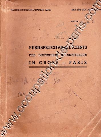 ANNUAIRE GROSS-PARIS