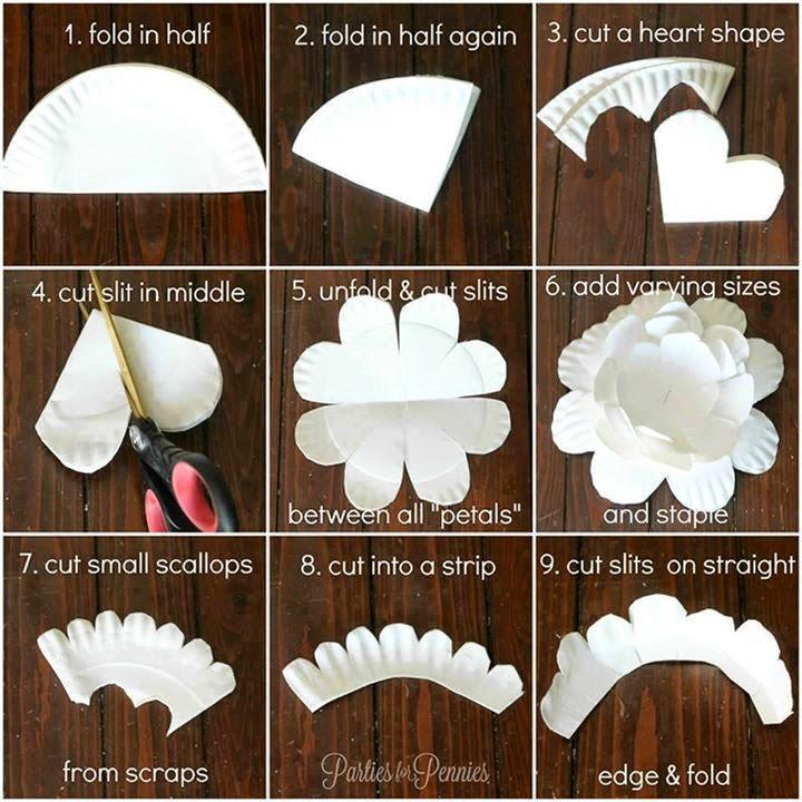 Paper Plates Diy Tutorial Step By Step #3.