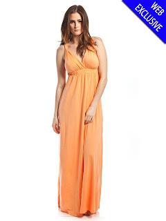 turuncu abiye modeli