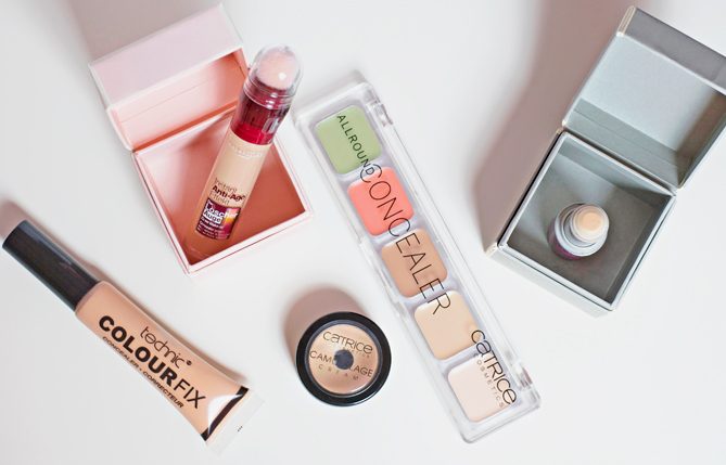 concealers under-eye spots covering